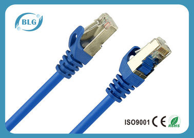 Le câble de correction de Cat5e protégé par bleu, 568B Cat5e a protégé le câble de twisted pair